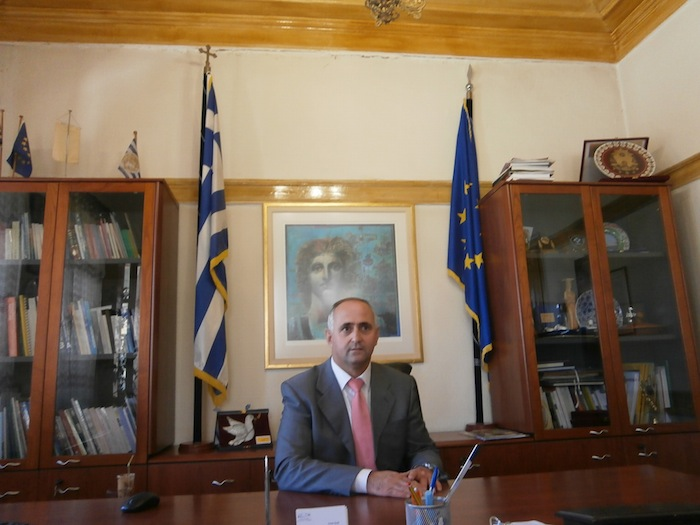 Meeting with a mayor in Thrace(Greece)